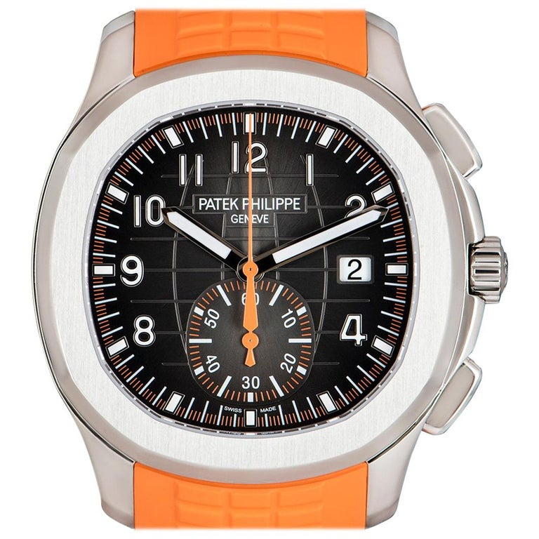 Patek Philippe Unworn Aquanaut Steel Black Dial 5968A-001 Automatic Wristwatch For Sale