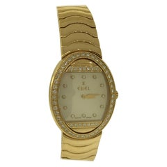 Ebel Satya Yellow God and Diamond Ladies Watch 8057B11 New with Box