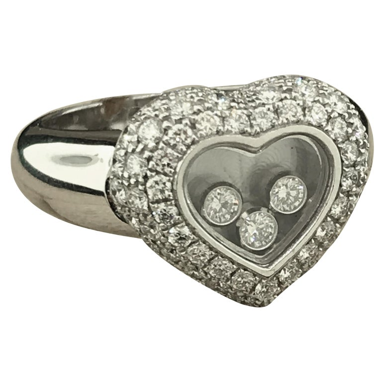 f144dd952532c Chopard Happy Diamonds White Gold Heart Ring 82/3185-20 For Sale at ...