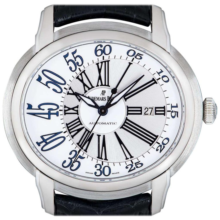Audemars Piguet Millenary White Gold 15320BC.OO.D028CR.01 Automatic Wristwatch For Sale
