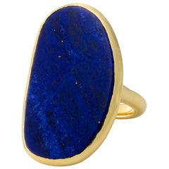Lapis Lazuli Ring in 18 Karat Yellow Gold