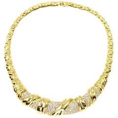 Jose Hess 18 Karat and Diamond Choker Necklace