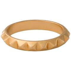 Berber Pyramid Accent Ring 18 Karat Yellow Gold