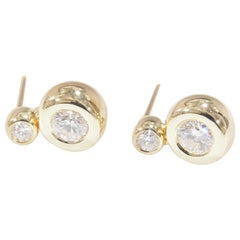 Mayors Diamond Earrings 0.64 Carat 14 Karat Yellow Gold Dangle