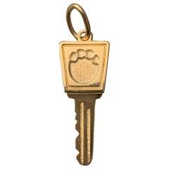 Gold Key Charm / Pendant Any Design 14 Karat Gold, Ben Dannie