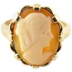 10 Karat Yellow Gold Cameo Ring