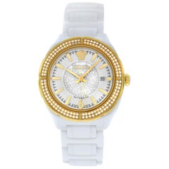 New Versace DV One Ceramic Diamond Automatic Date Watch
