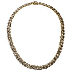 White Diamond Necklace in 18 Karat Yellow Gold