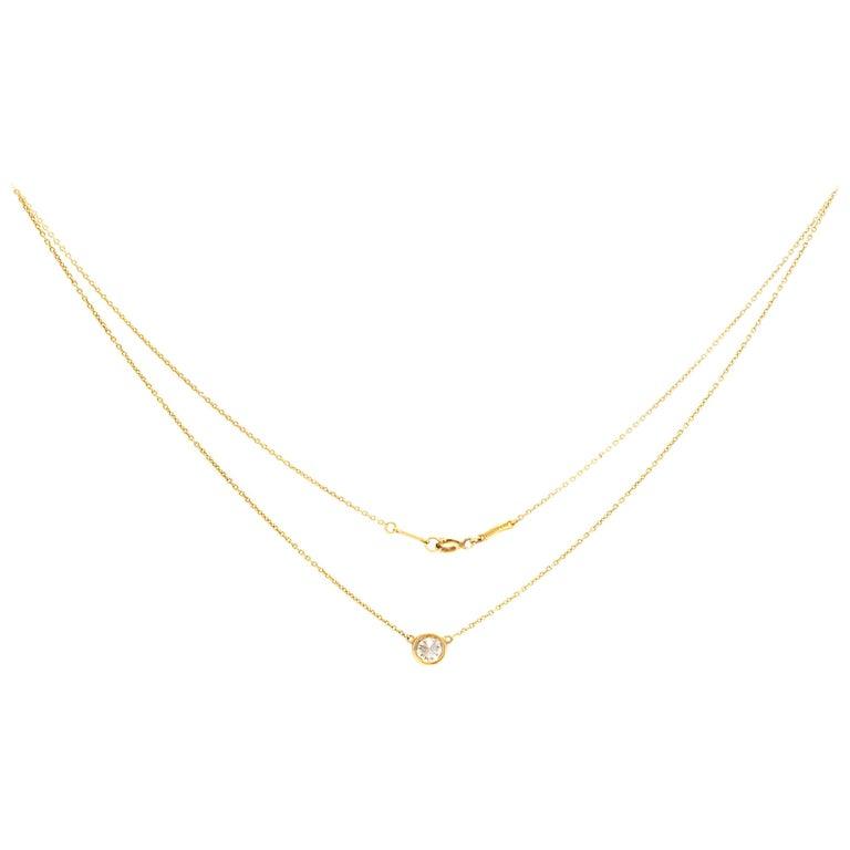 a039f09e0bbc0 Tiffany & Co. Elsa Peretti Diamonds by the Yard Pendant Necklace