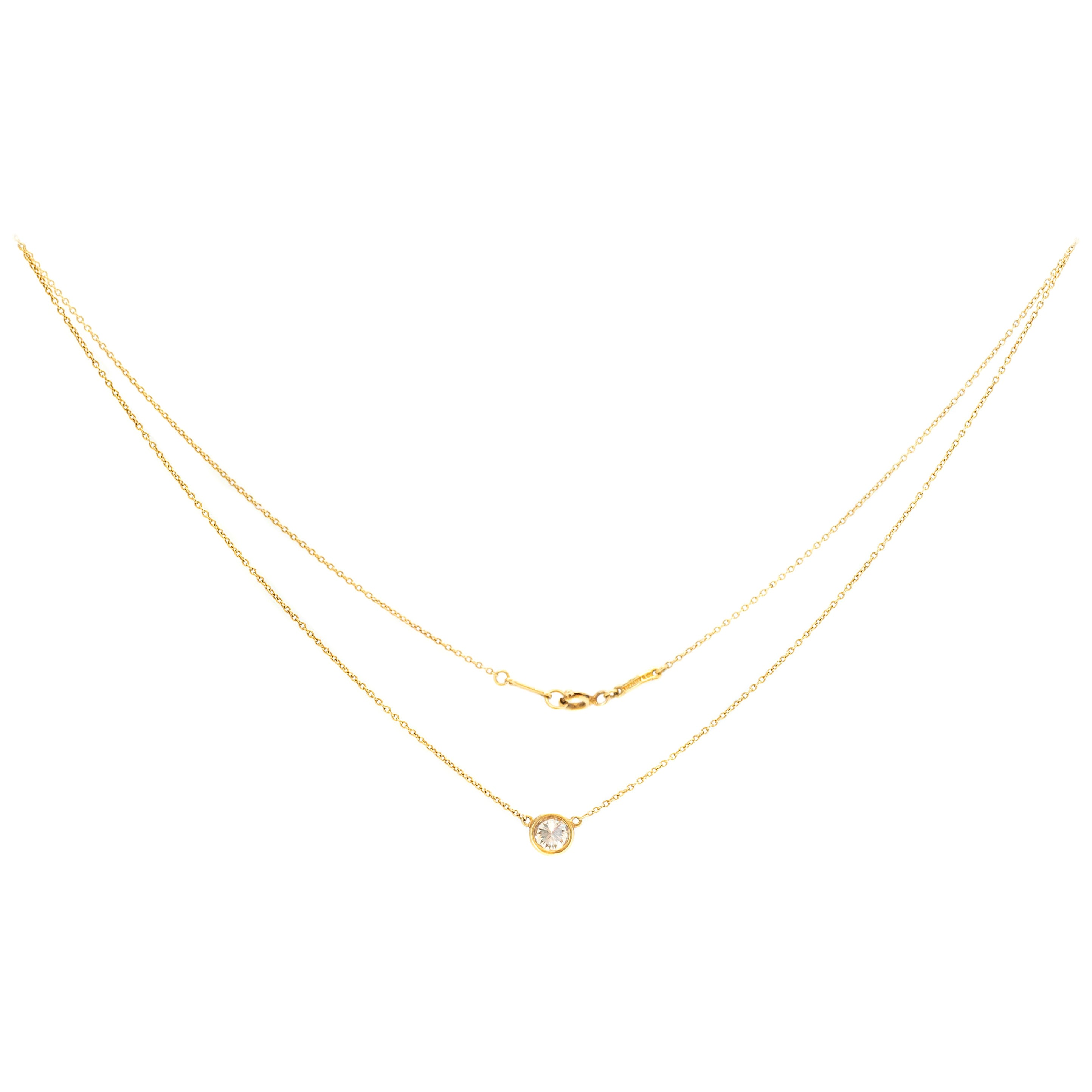 Tiffany & Co. Elsa Peretti Diamonds by the Yard Pendant Necklace