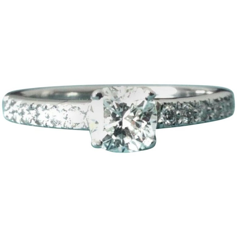 197248e11 Tiffany & Co. Platinum NOVO .40 Carat I VVS2 Diamond Engagement Ring For  Sale
