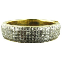 18 Karat Yellow Gold French Cut Diamond cuff Bracelet