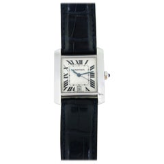 Cartier Tank Française White Gold Automatic Large Wristwatch