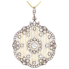 Art Deco Diamond Pendant and Brooch, circa 1920s