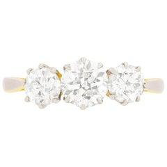 Edwardian Diamond Three-Stone Ring, circa 1910
