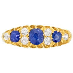 Edwardian Sapphire and Diamond Dress Ring, circa 1906