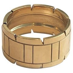 Cartier Large Tank Band Ring Yellow Gold 18 Karat, Bague Tank or Jaune