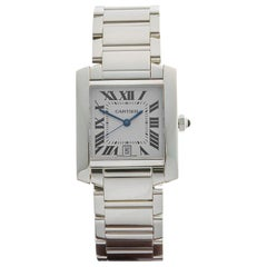2010s Cartier Tank Francaise White Gold 2366 or W50011S3 Wristwatch