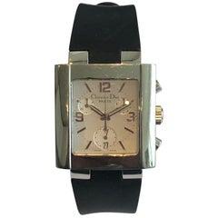 Christian Dior Riva Chrono Uhr aus Edelstahl, Montre Riva Acier