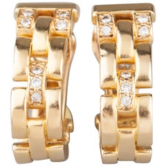Cartier Gold and Diamonds Earrings