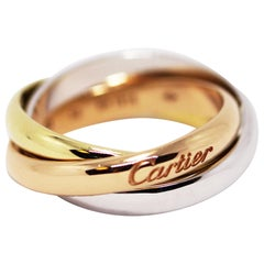 Cartier 18 Carat Gold Trinity Ring