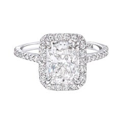 GIA Certified 2.36 Carat Radiant Cut Engagement or Anniversary Ring