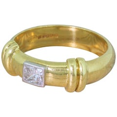 Late 20th Century 0.27 Carat Princess Cut Diamond Ring