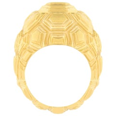 Jona Testudo 18 Karat Yellow Gold Dome Ring