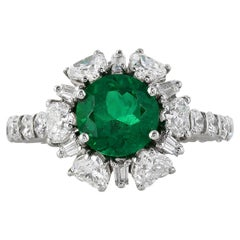 2.02 Carat Colombian Emerald Ring