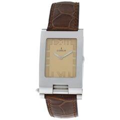NOS Men's Corum Toboggan Transformer Steel Quartz Watch