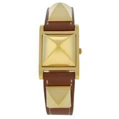 29e0a09c853 Vintage Hermes Carrick Gold Plated Quartz Watch For Sale at 1stdibs