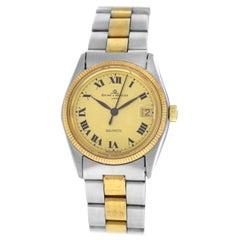 Authentic Men's Unisex Baume & Mercier Baumatic Steel Gold Automatic Watch
