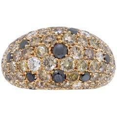 6.68 Carat Diamond Dome Ring in 18 Karat Rose Gold