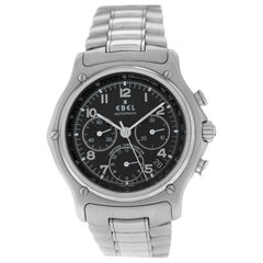 Authentic Men's Ebel 1911 Chrono Steel Automatic Date Watch