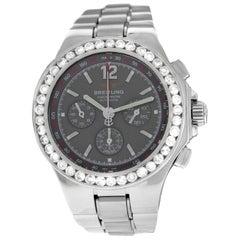 Authentic Men's Breitling Hercules Steel Diamond Automatic Watch
