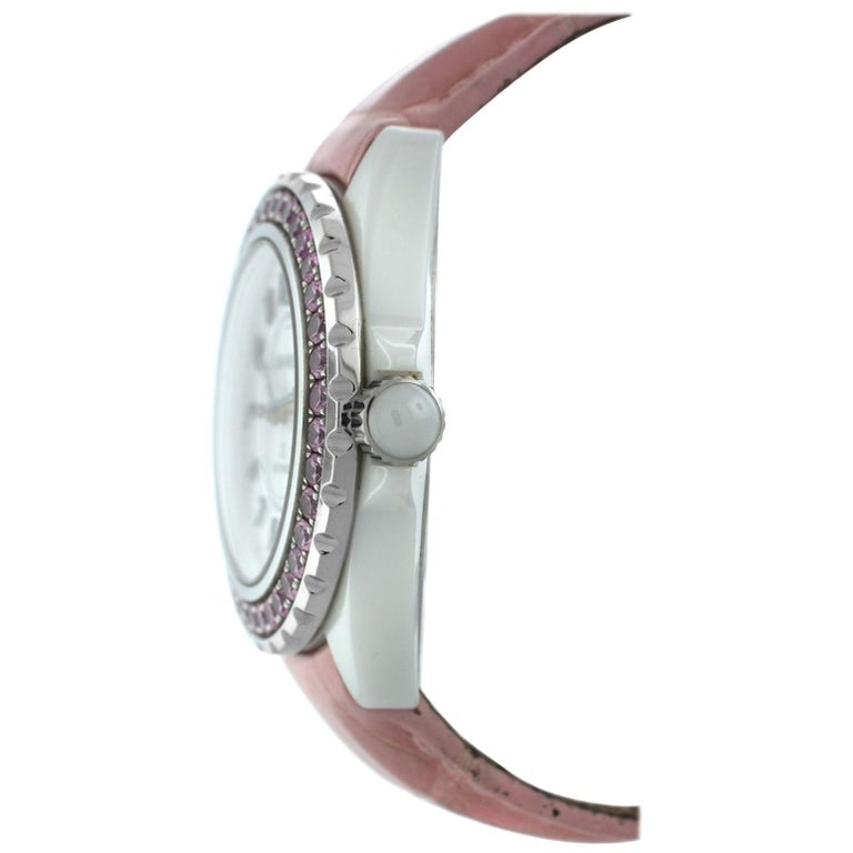 98c4393360c Authentic Ladies Chanel Sapphire Ceramic Date Automatic Watch For Sale at  1stdibs