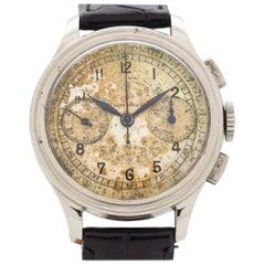 Vintage Longines 13ZN Chronograph Edelstahl Uhr, 1939