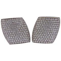 Vhernier Plateau Diamond Gold Earrings