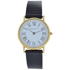 Authentic Ladies Tiffany & Co. Classic 14 Karat Solid Gold Quartz Watch