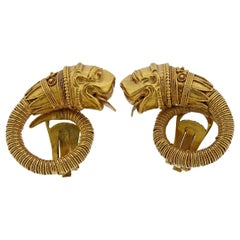 Zolotas Greece Gold Chimera Earrings