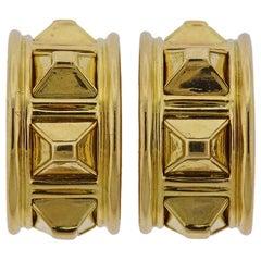 Tiffany & Co. Gold Half Hoop Earrings