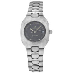 Authentic Ladies Omega Seamaster Polaris Titane Quartz Watch