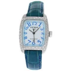 Ladies Locman Aluminum Diamond Mother of Pearl Quartz Watch