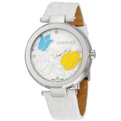 Authentic New Versace Mystique White Floral Quartz Watch