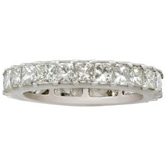 1940s 2.32 Carat Diamond and White Gold Full Eternity Ring