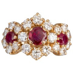 Rubies and Diamonds Boucheron Ring