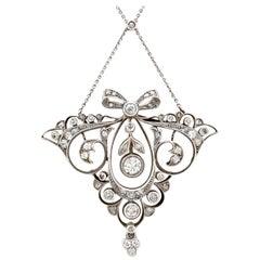 1920s Austrian 1.65 Carat Diamond Gold Pendant