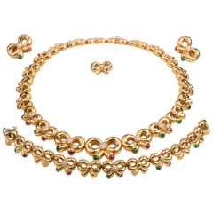 Boucheron Paris Set, Gold and Precious Stones