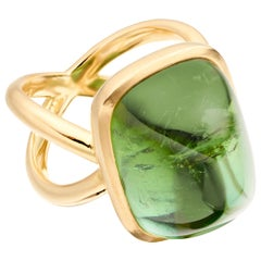 Lilly Hastedt Green Tourmaline Cocktail Ring in 18 Karat Gold