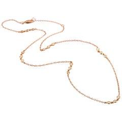 18 Karat Yellow Gold Diamonds by the Yard Necklace